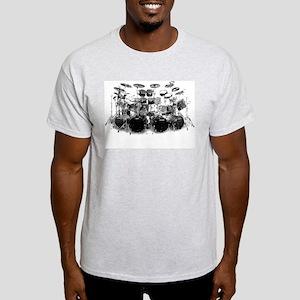 Drum Sketch Ash Grey T-Shirt
