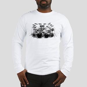 Drum Sketch Long Sleeve T-Shirt