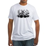 Drum Sketch Fitted T-Shirt