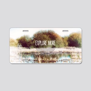 Explore More wilderness Aluminum License Plate