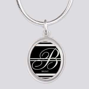 Black and White Stripe Monogram Necklaces