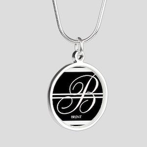 Black and White Stripe Monogram Necklaces