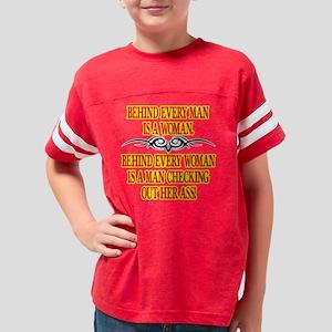 Blk_Behind_Every_Man_Woman Youth Football Shirt