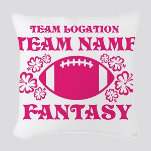 Ladys Hot Pink Fantasy Personalized Woven Throw Pi