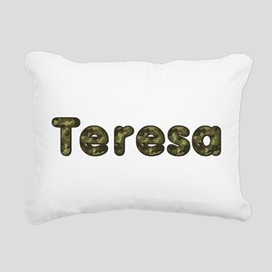 Teresa Army Rectangular Canvas Pillow