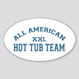 AA Hot Tub Team Oval Sticker