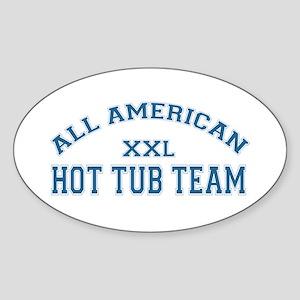 AA Hot Tub Team Oval Sticker