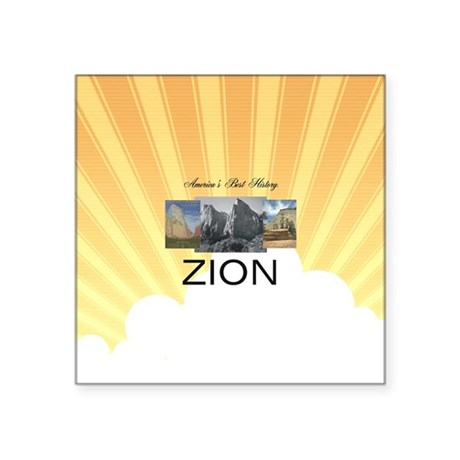 """ABH Zion Square Sticker 3"""" x 3"""""""