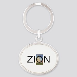 ABH Zion Oval Keychain