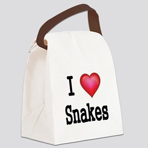 I LOVE SNAKES Canvas Lunch Bag