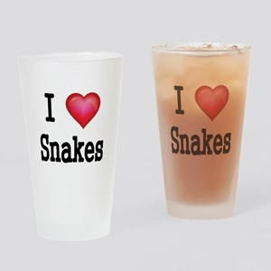 I LOVE SNAKES Drinking Glass
