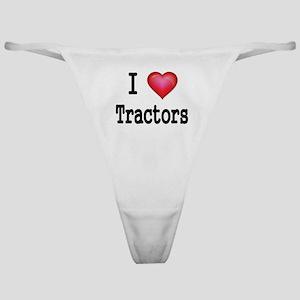 I LOVE MY TRACTORS Classic Thong