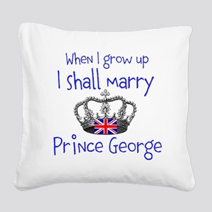 Marry Prince George Square Canvas Pillow