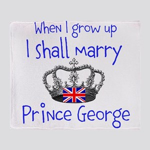 Marry Prince George Throw Blanket