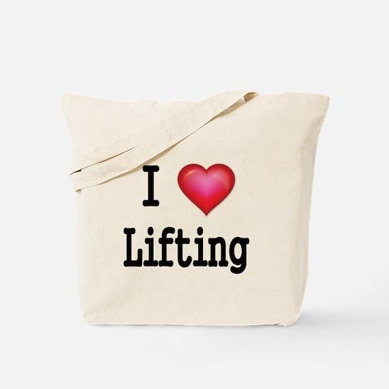 I LOVE LIFTING Tote Bag