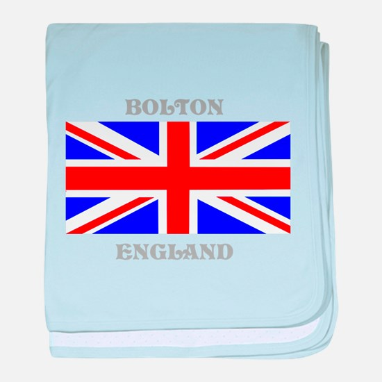 Bolton England baby blanket