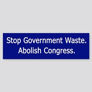 Stop Government Waste Bumper Sticker