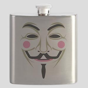 Guy Fawks Mask Flask