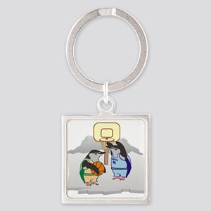 Penguin Basketball Keychains