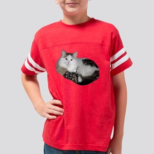 Kitty Cat in Bed Youth Football Shirt