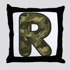 R Army Throw Pillow