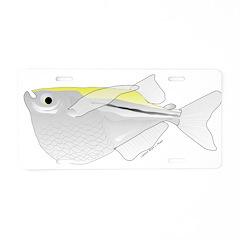 Silver Hatchetfish f Aluminum License Plate