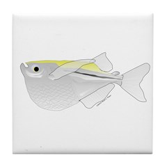 Silver Hatchetfish f Tile Coaster