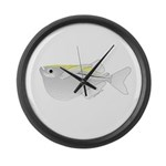 Silver Hatchetfish f Large Wall Clock