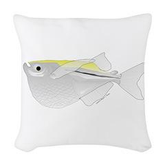 Silver Hatchetfish f Woven Throw Pillow