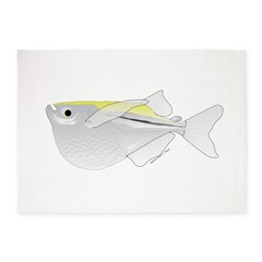Silver Hatchetfish f 5'x7'Area Rug