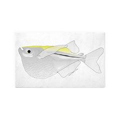 Silver Hatchetfish f 3'x5' Area Rug