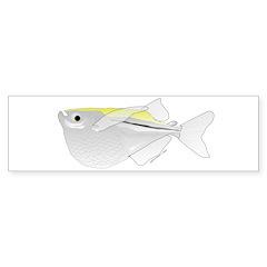 Silver Hatchetfish f Bumper Bumper Sticker
