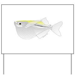 Silver Hatchetfish f Yard Sign