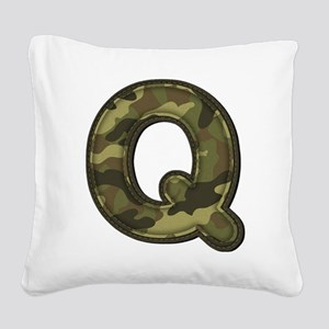 Q Army Square Canvas Pillow