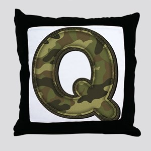 Q Army Throw Pillow