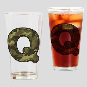 Q Army Drinking Glass
