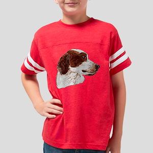 Irish Red  White Setter Youth Football Shirt