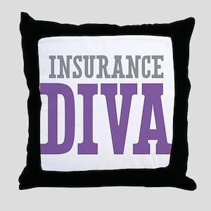 Insurance DIVA Throw Pillow