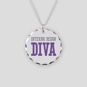 Interior Design DIVA Necklace Circle Charm