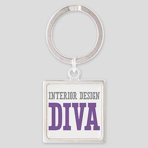 Interior Design DIVA Square Keychain