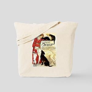 Cat Dog Lady pets Tote Bag