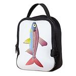 Watermelon fish v Neoprene Lunch Bag