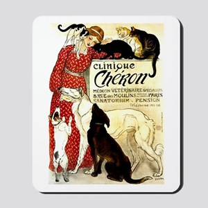 Cat Dog Lady pets Mousepad