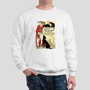 Cat Dog Lady pets Sweatshirt
