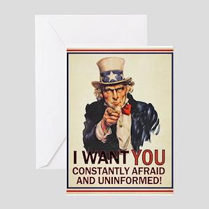 I Want You Afraid Greeting Card