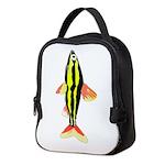 Striped Headstander fish v Neoprene Lunch Bag
