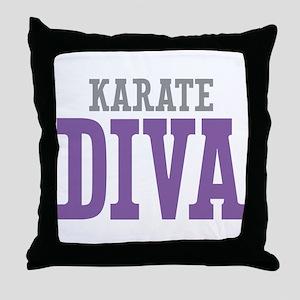 Karate DIVA Throw Pillow