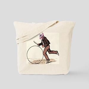 Big Wheel Cat Tote Bag