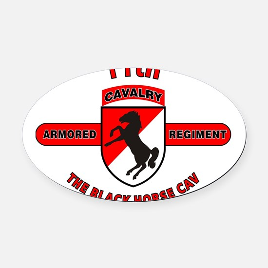 11TH ARMORED CAVALRY REGIMENT Oval Car Magnet