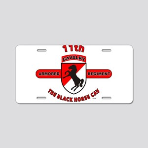 11TH ARMORED CAVALRY REGIMENT Aluminum License Pla
